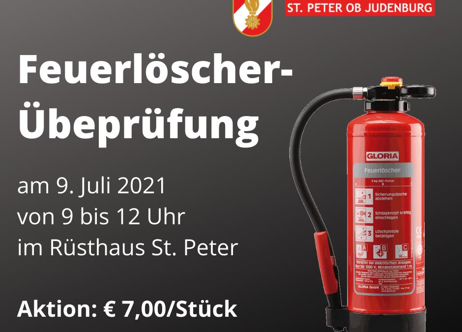 Feuerlöscher-Übeprüfung